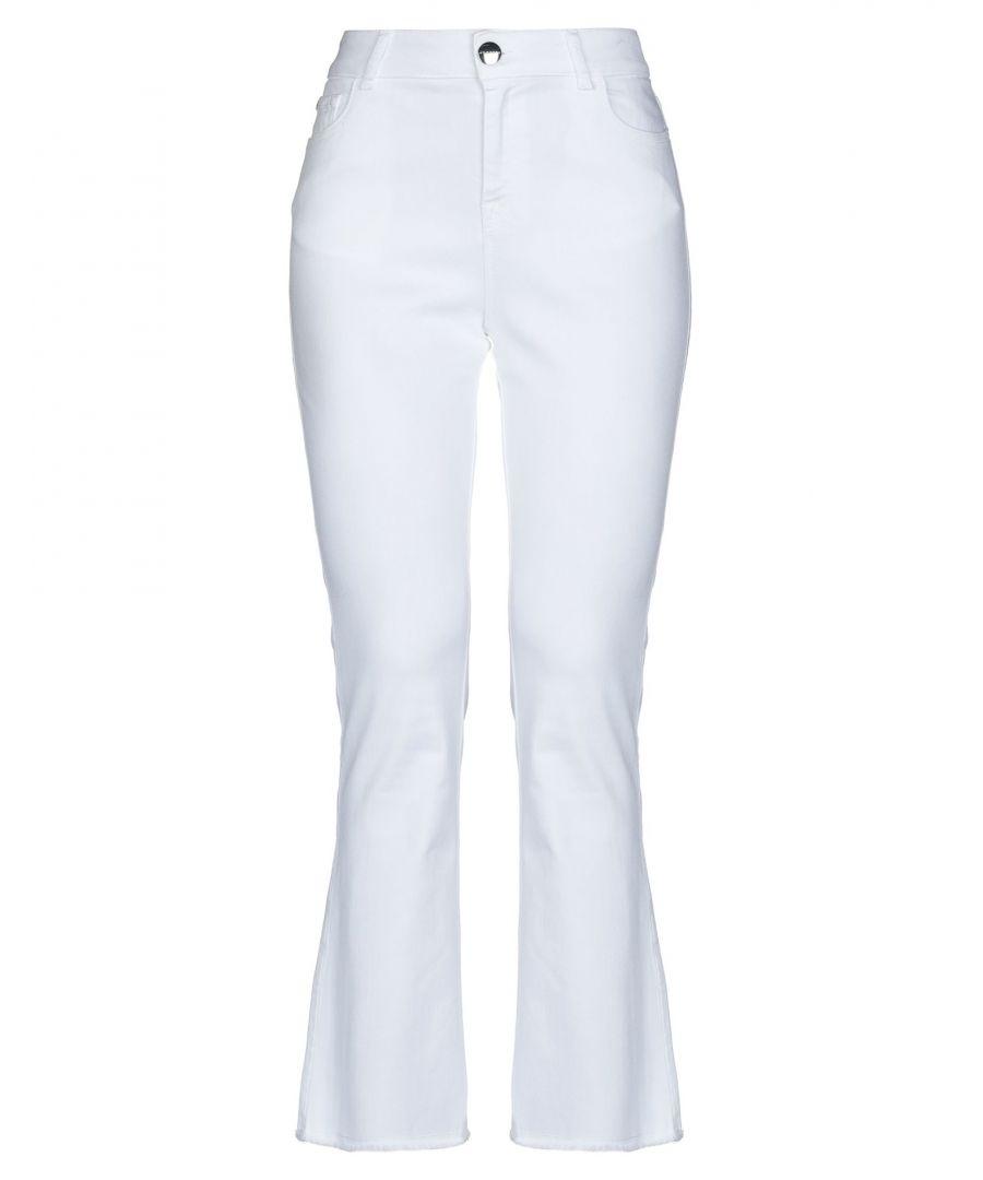 Image for Nenette Woman Denim trousers White Cotton