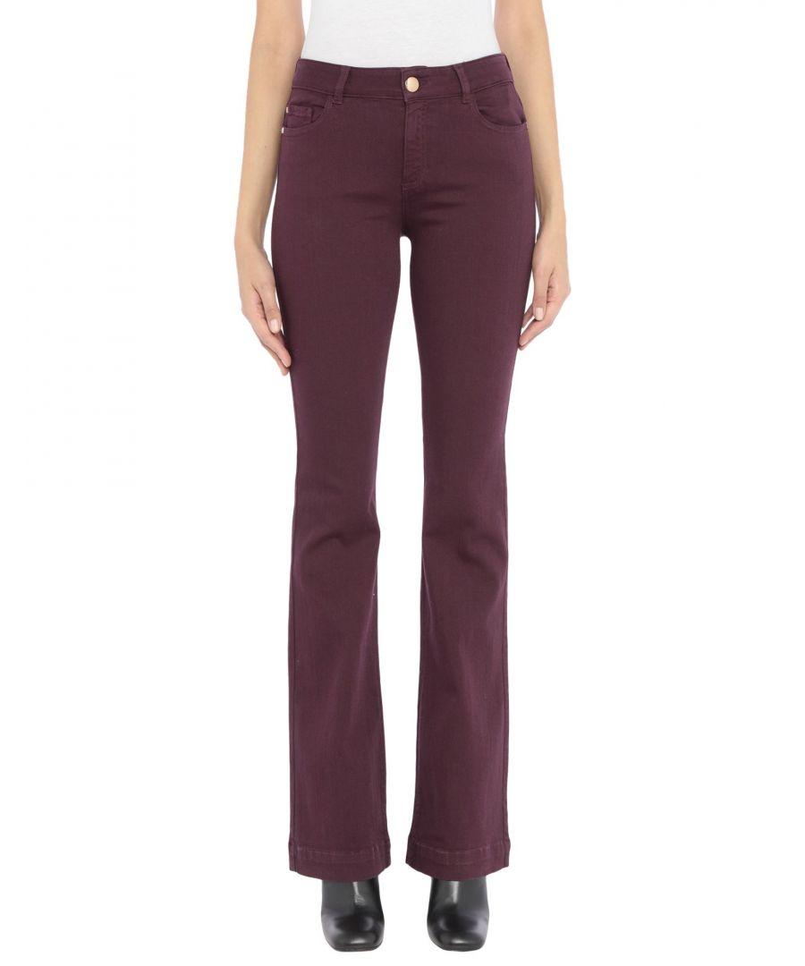Image for Nenette Woman Denim trousers Deep purple Cotton