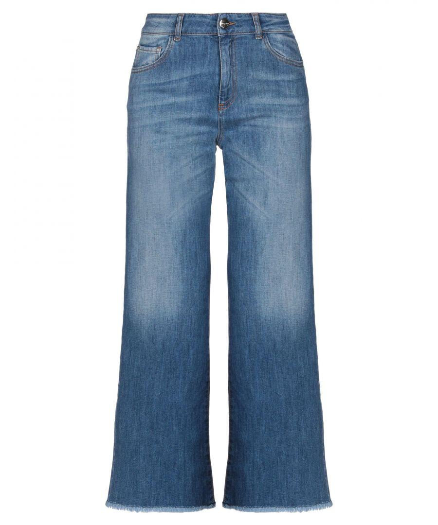 Image for Nenette Blue Cotton Wide Leg Jeans