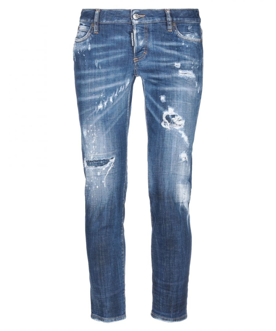 Image for Dsquared2 Blue Cotton Low Waisted Jeans