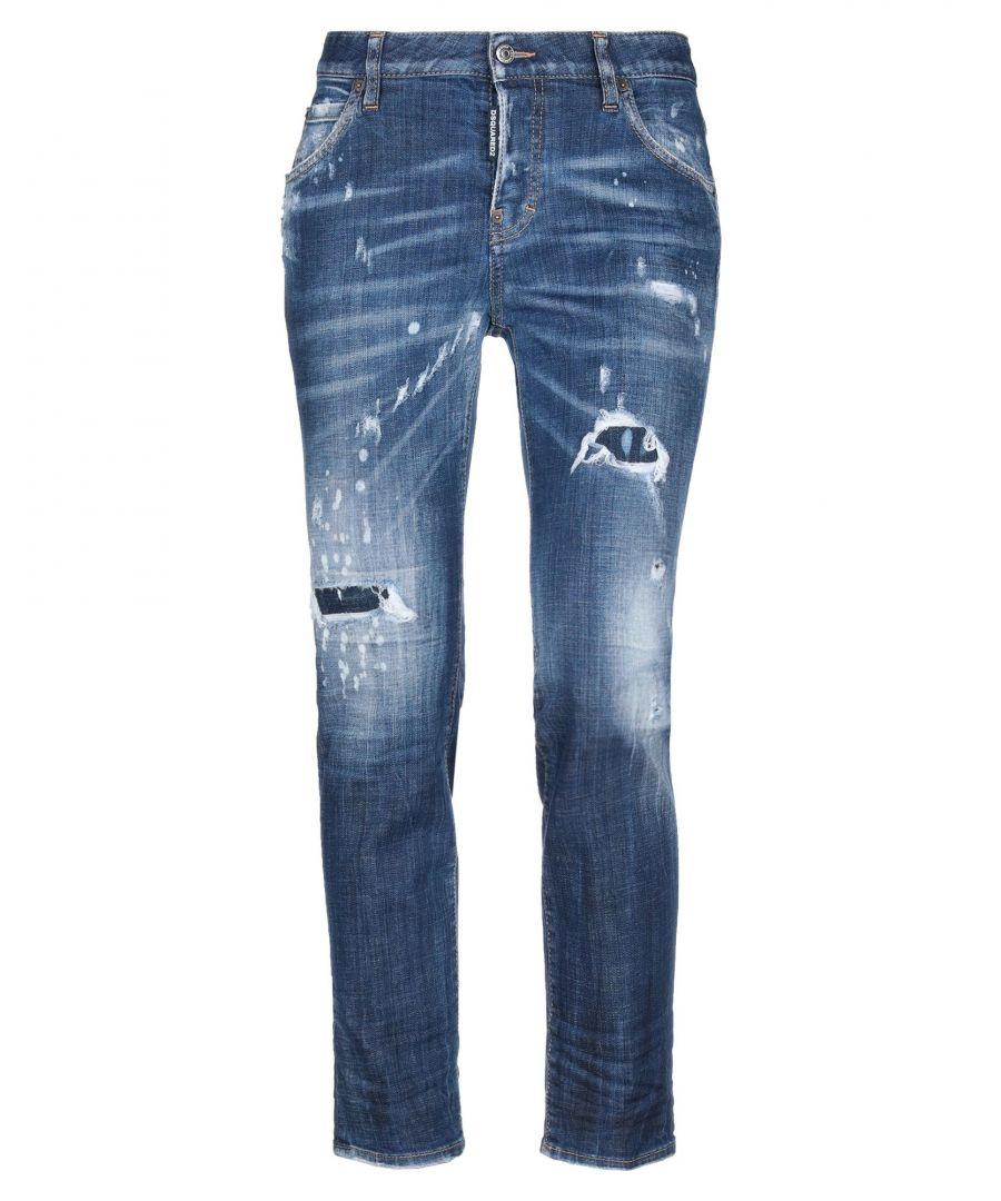 Image for Dsquared2 Blue Cotton Medium Wash Jeans
