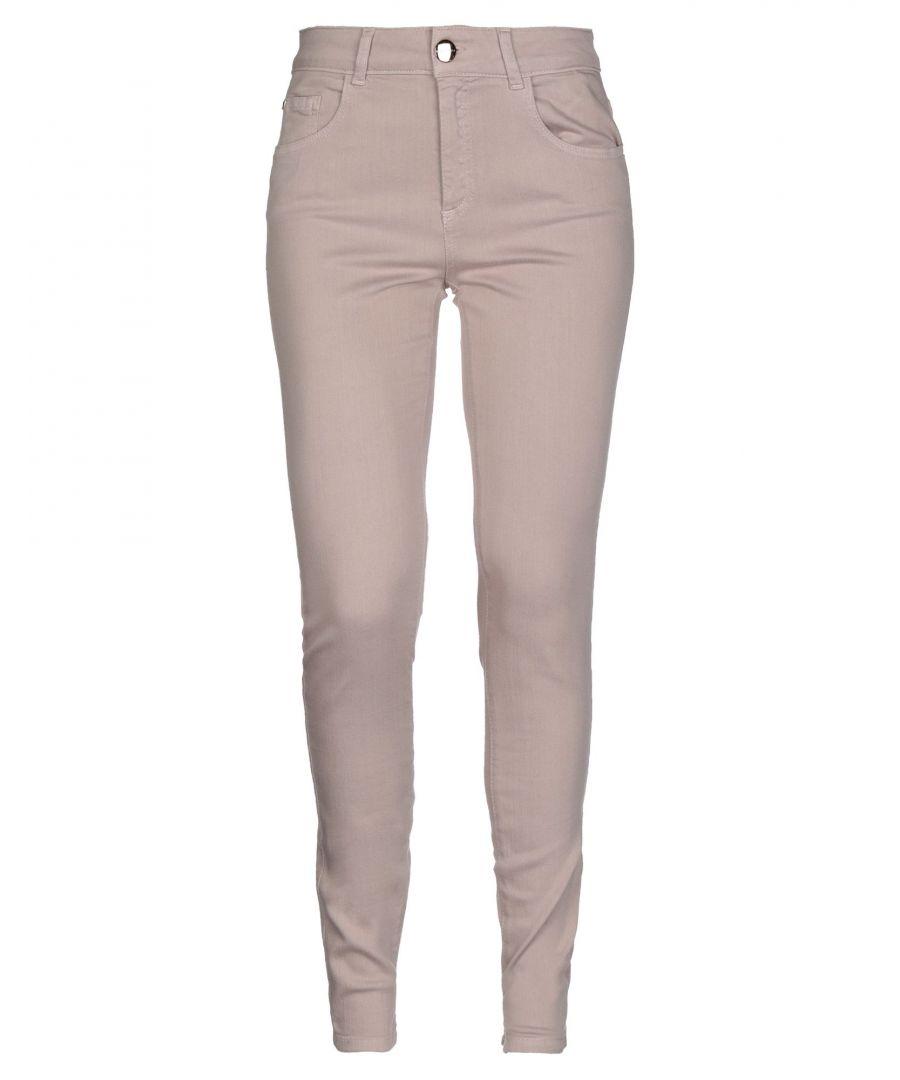Image for Nenette Woman Denim trousers Beige Cotton