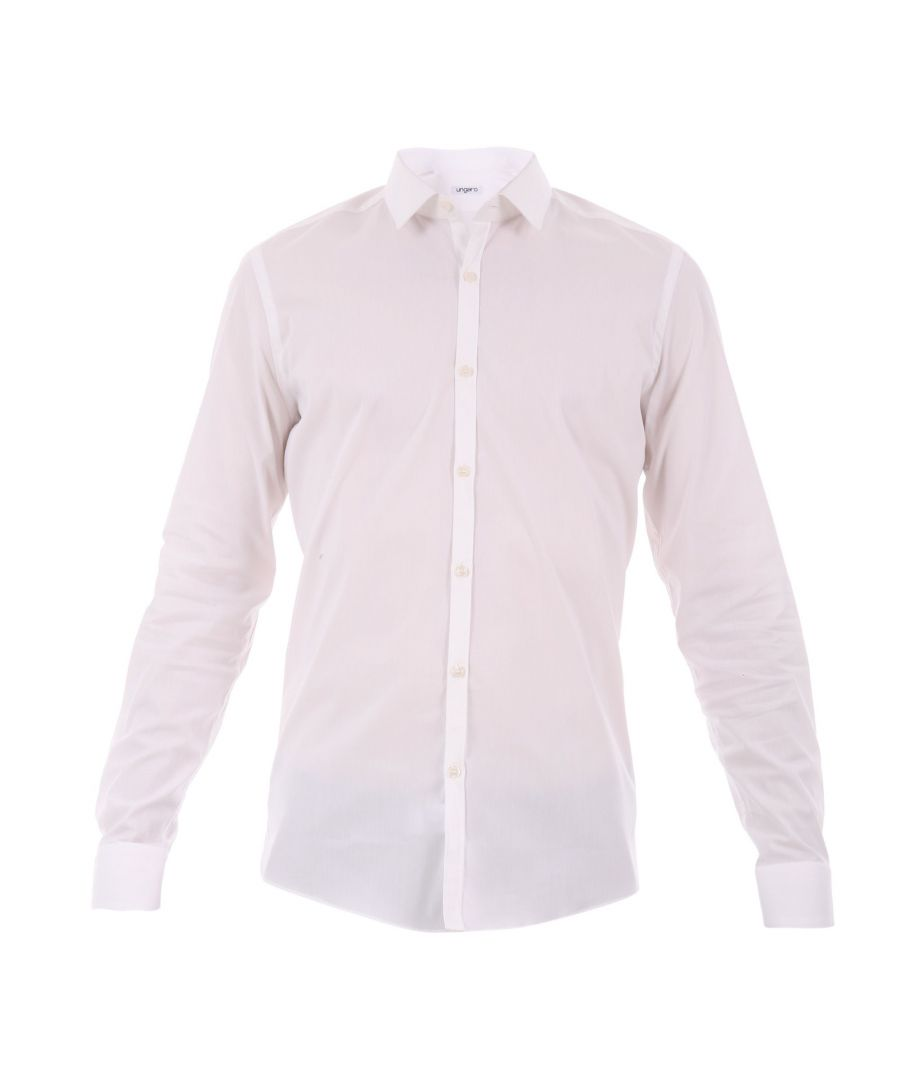 Image for UNGARO MEN'S B3MAGOOL0U31520 WHITE COTTON SHIRT