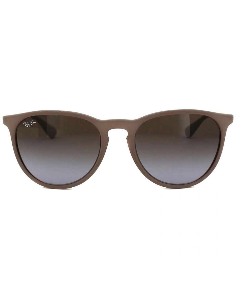 Image for Ray-Ban Sunglasses Erika 4171 600068 Dark Rubber Sand Brown Gradient