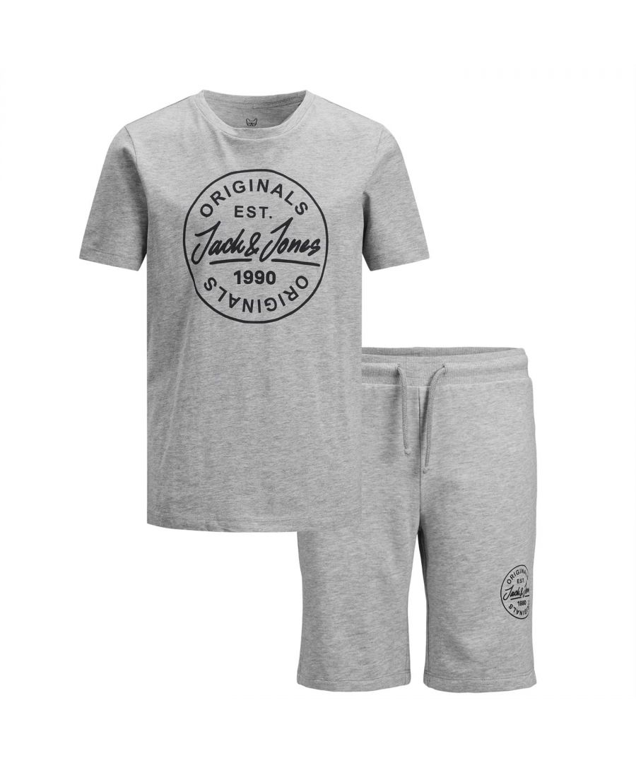 Image for Jack and Jones Boys T-Shirt Short Set Crew Neck Short Sleeves Casual Soft Fabric