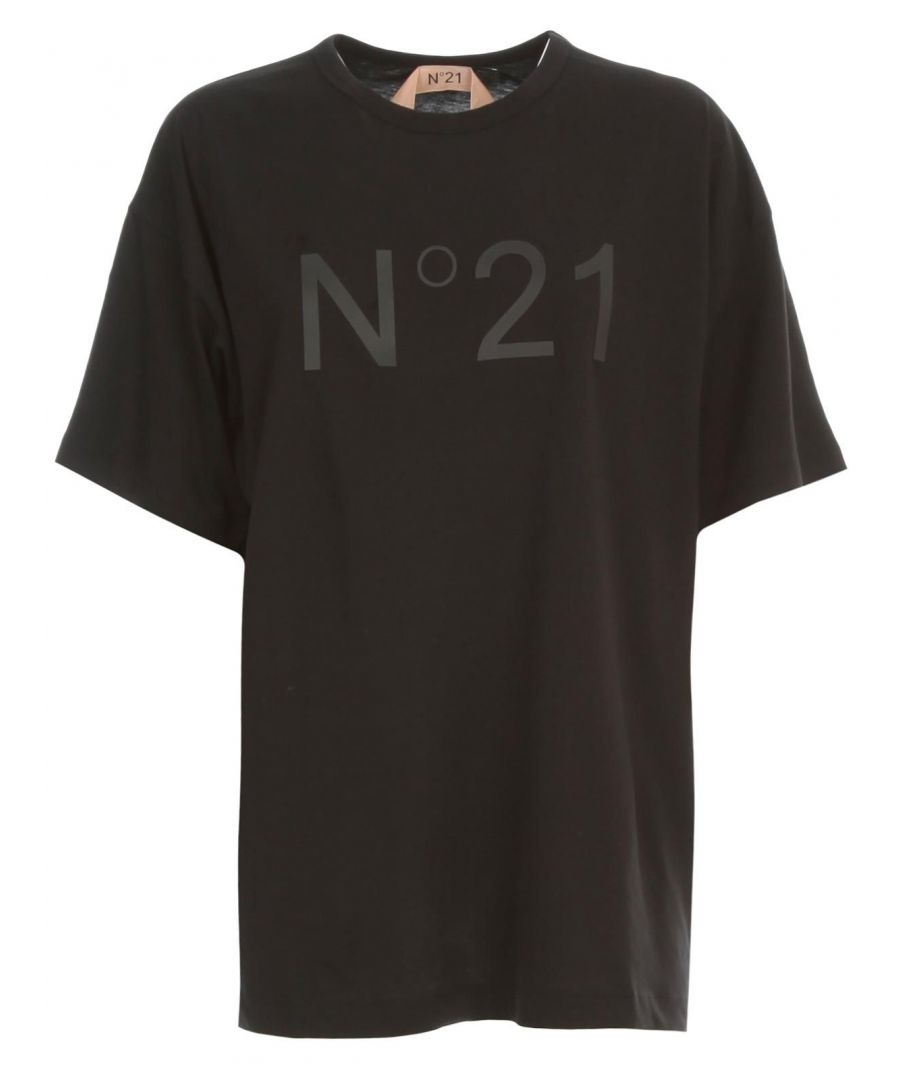 Image for N°21 WOMEN'S F06163149000NERO BLACK COTTON T-SHIRT