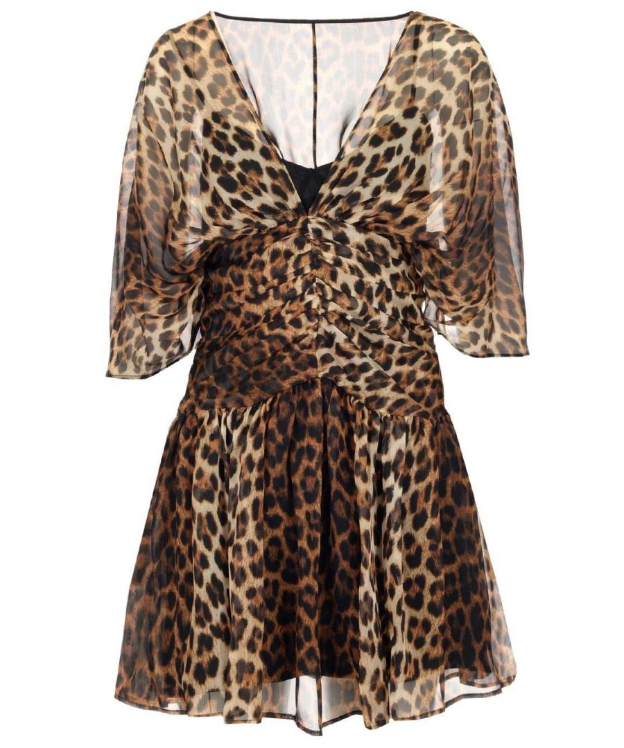 Image for N°21 WOMEN'S H1525950S2A1 BEIGE SILK DRESS