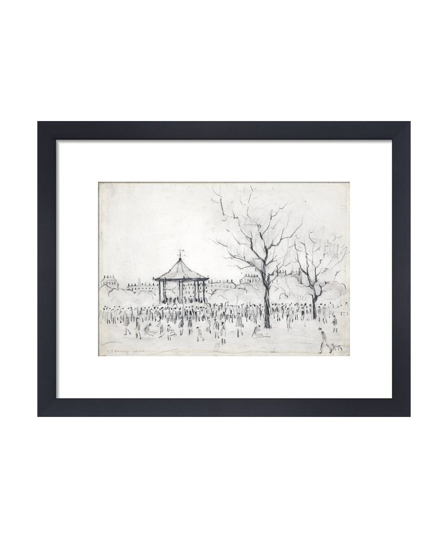 Image for Bandstand, Peel Park, Salford, 1924 by L.S. Lowry