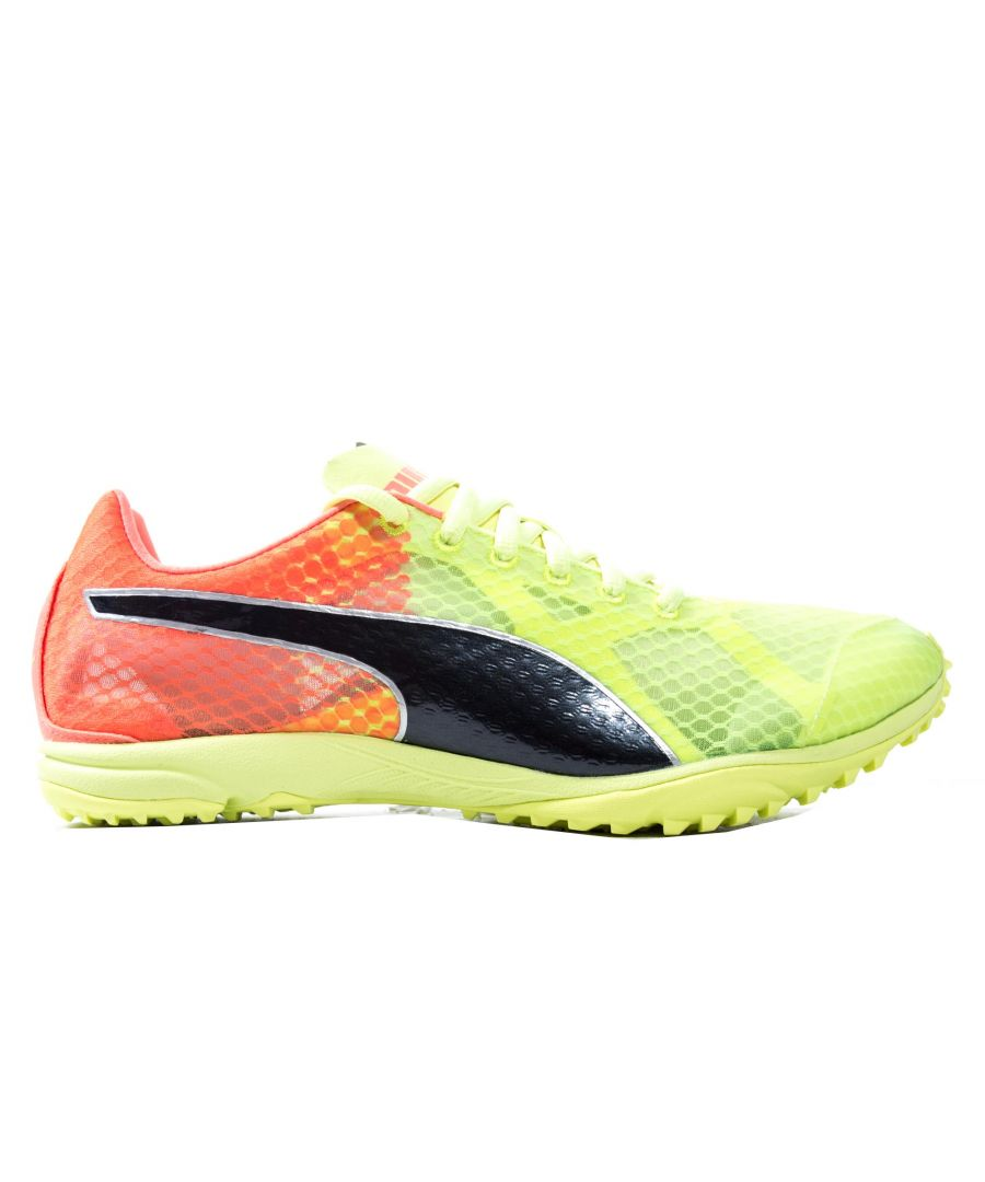 Image for Puma Haraka 6 Mens Running Spike Yellow/Pink/Black