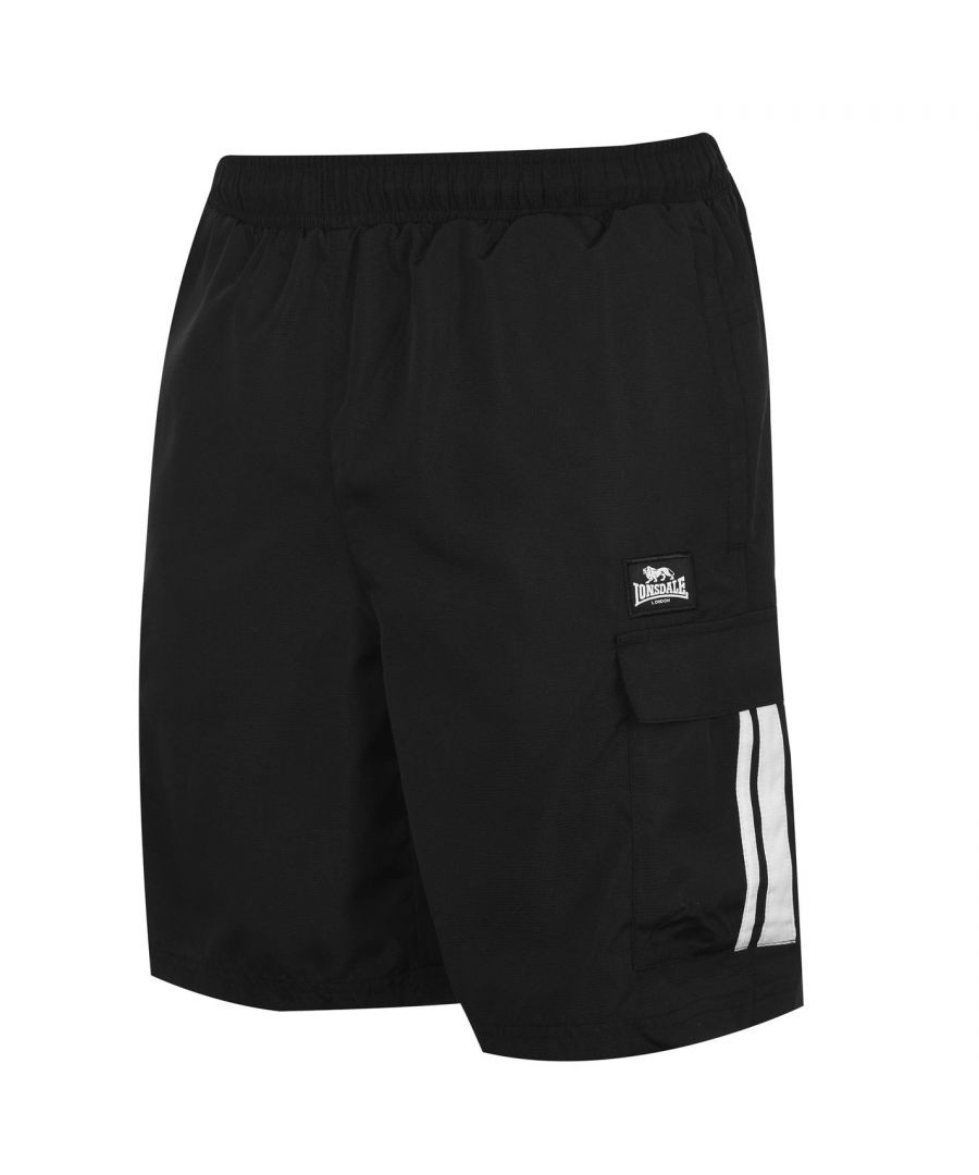 Image for Lonsdale Mens Cargo Shorts Comfortable Fit Lightweight Mesh Lining Sport Bottoms