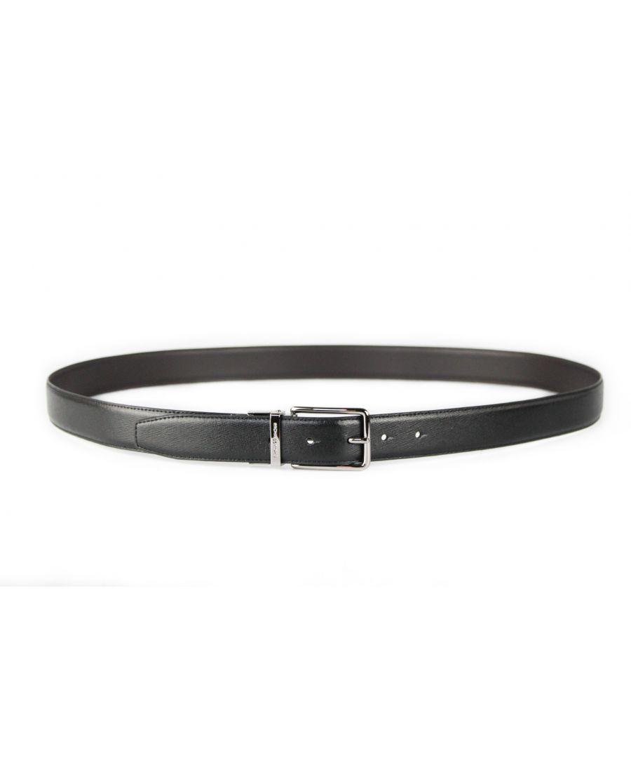 Image for Michael Kors 4 in 1 Signature MK Logo Buckle Black/Brown Belt Box Gift Set