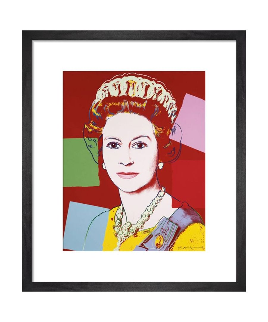 Image for Reigning Queens: Queen Elizabeth II of the United Kingdom, 1985 (dark outline) by Andy Warhol