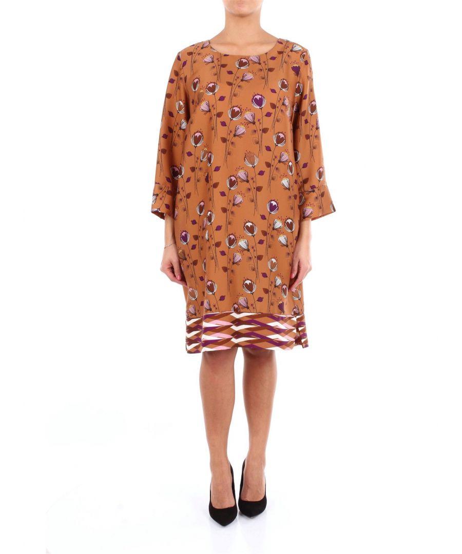 Image for ALTEA WOMEN'S 1966501CAMMELLOFANTASIA BEIGE VISCOSE DRESS