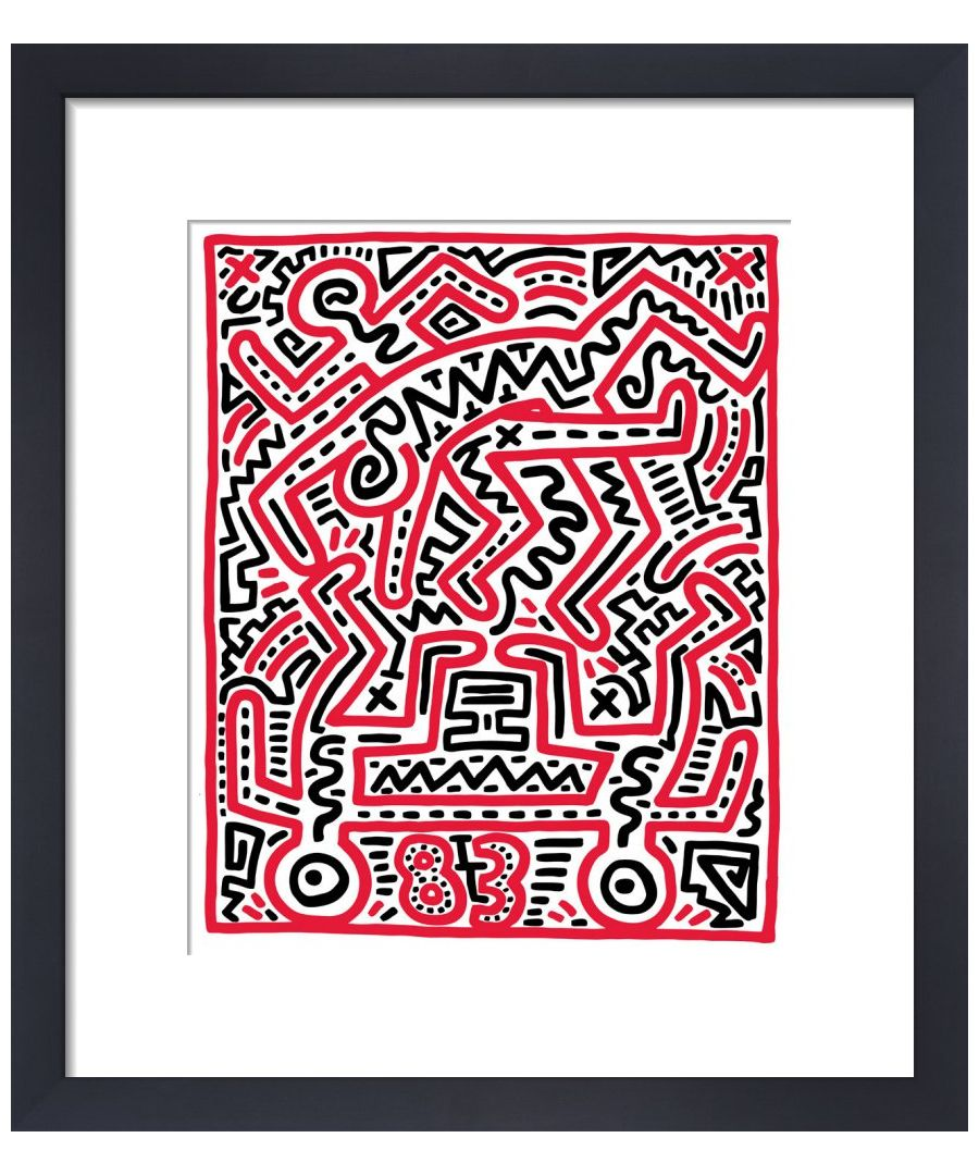 Image for Fun Gallery Exhibition 1983 by Keith Haring