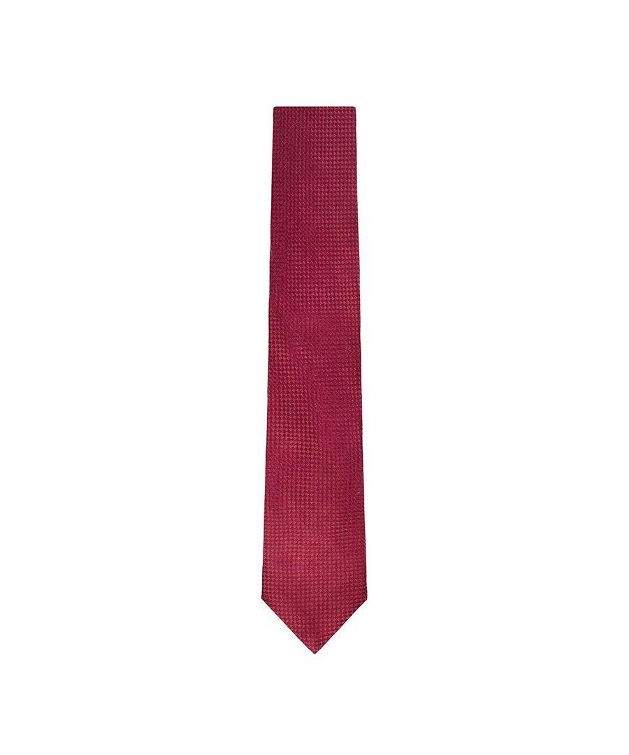 Image for Men's Hackett Solid Tie in Red