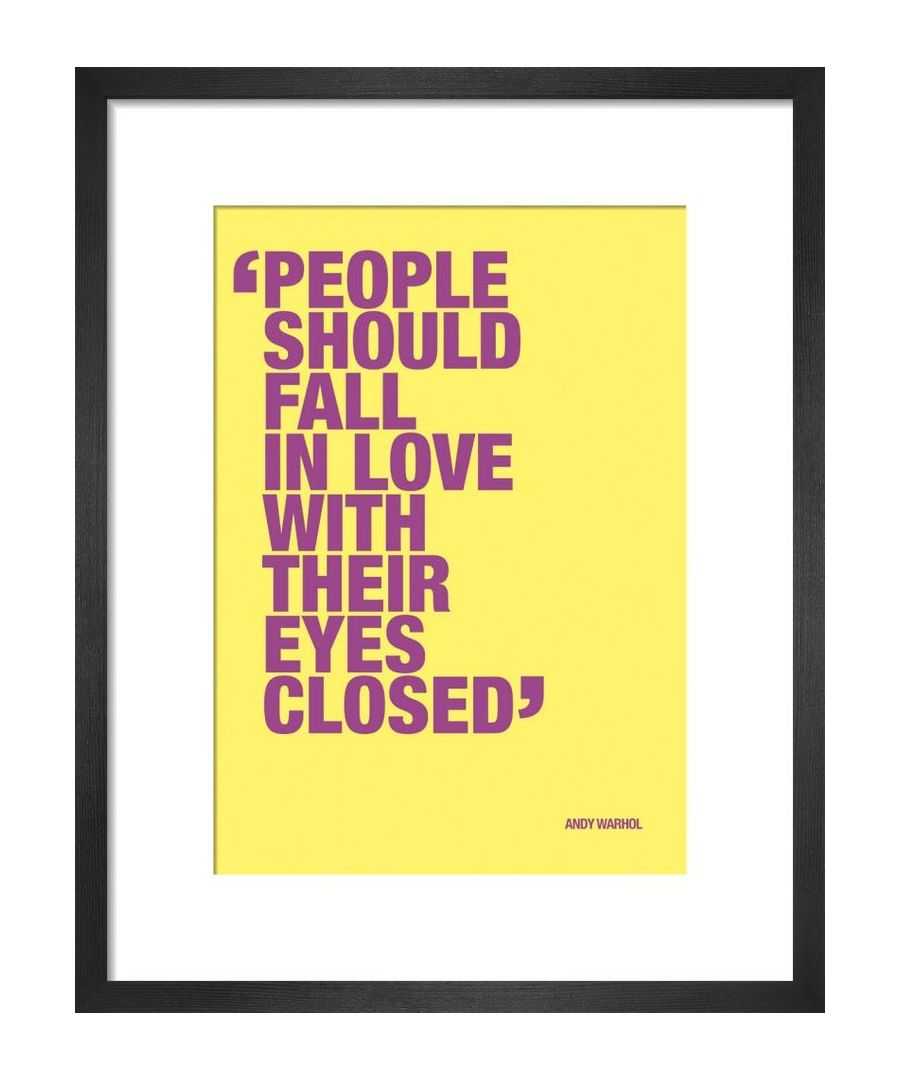 Image for Fall in love by Andy Warhol