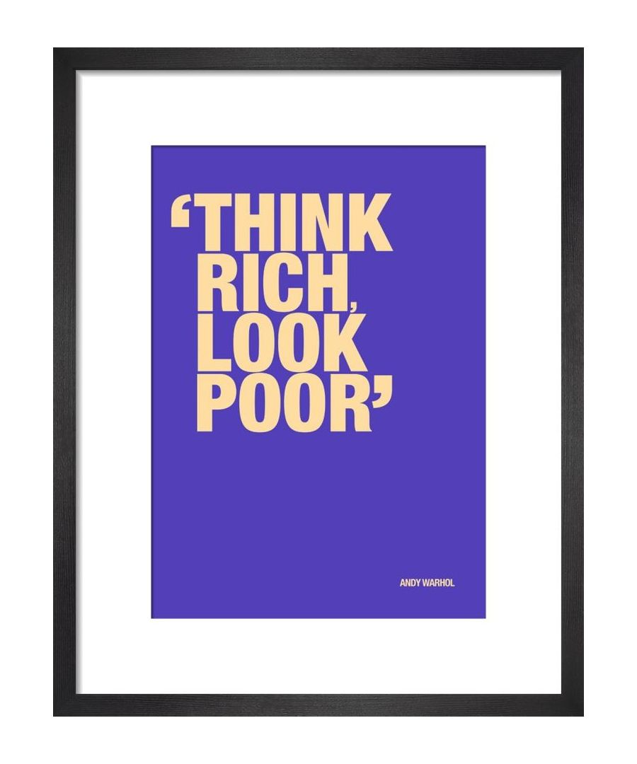 Image for Think rich by Andy Warhol