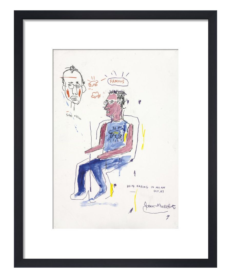 Image for Sketch of Keith Haring, 1983 by Jean-Michel Basquiat