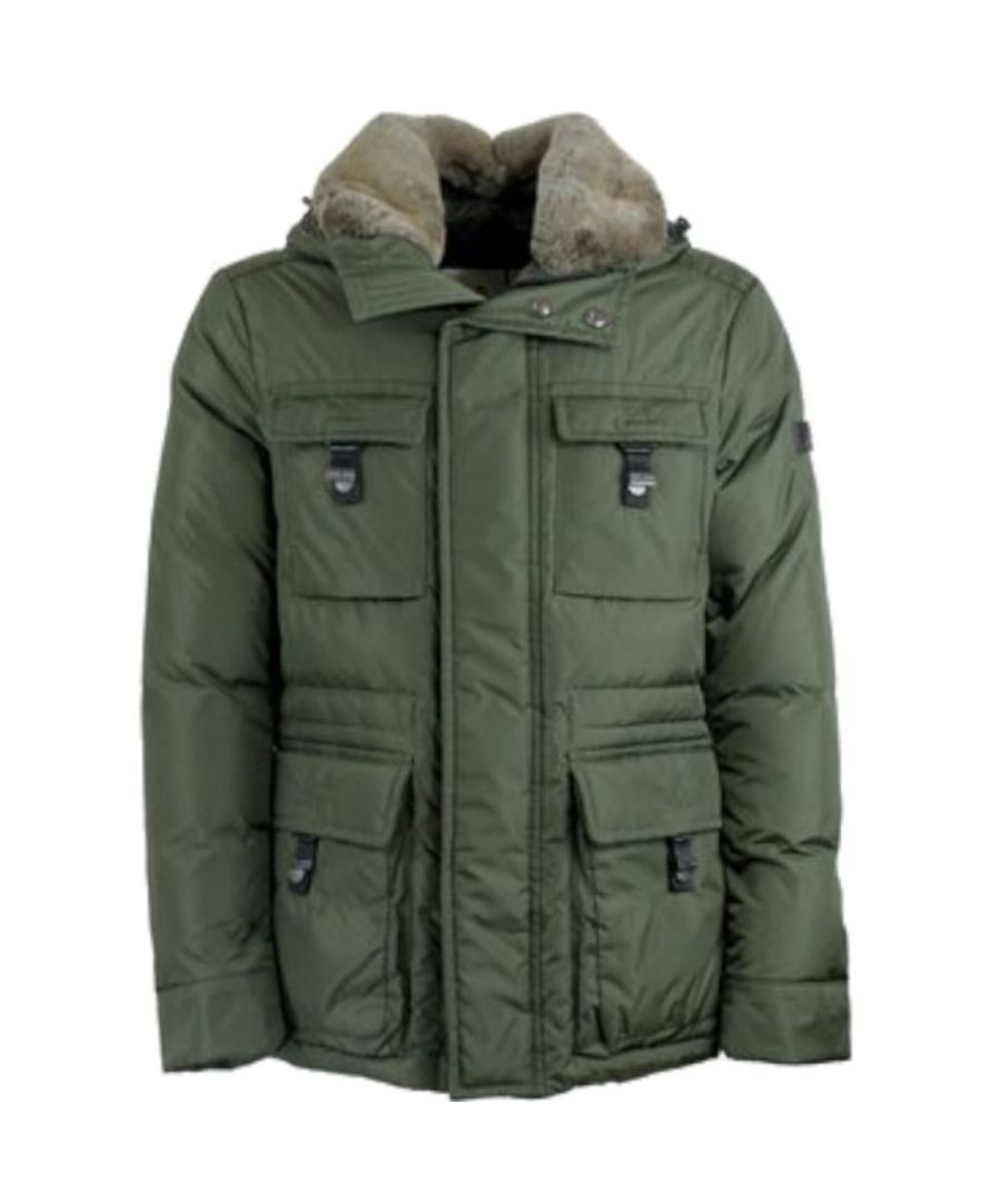 Image for PEUTEREY MEN'S PEU3326690 GREEN POLYESTER OUTERWEAR JACKET