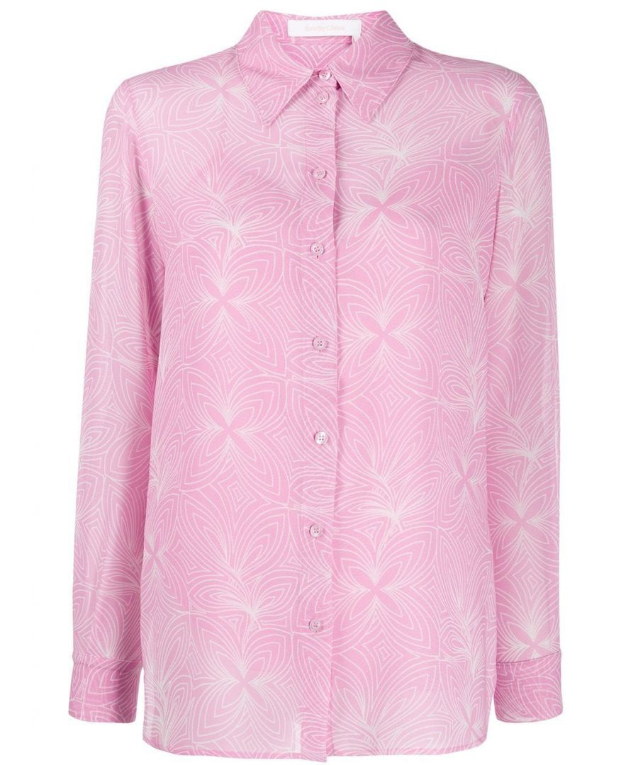 Image for SEE BY CHLOÉ WOMEN'S CHS20SHT500269O5 PINK POLYESTER SHIRT