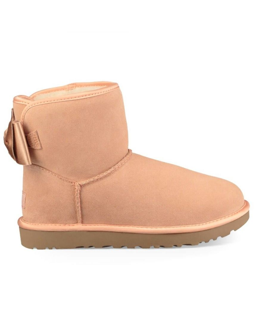 Image for UGG WOMEN'S UGSSABOWMSU1098081W PINK LEATHER ANKLE BOOTS