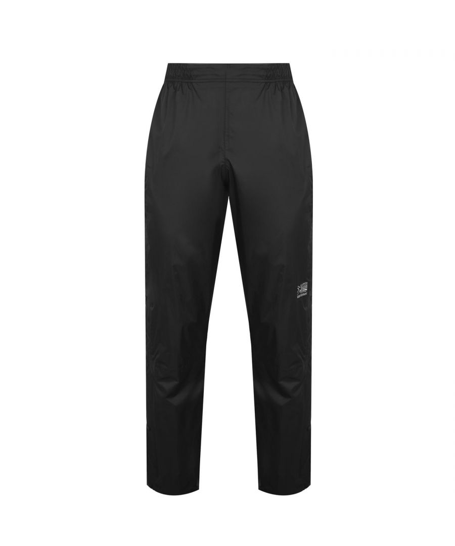 Image for Karrimor Mens Gents Orkney Waterproof Trousers Pants Press Stud Ankle Zip Pocket
