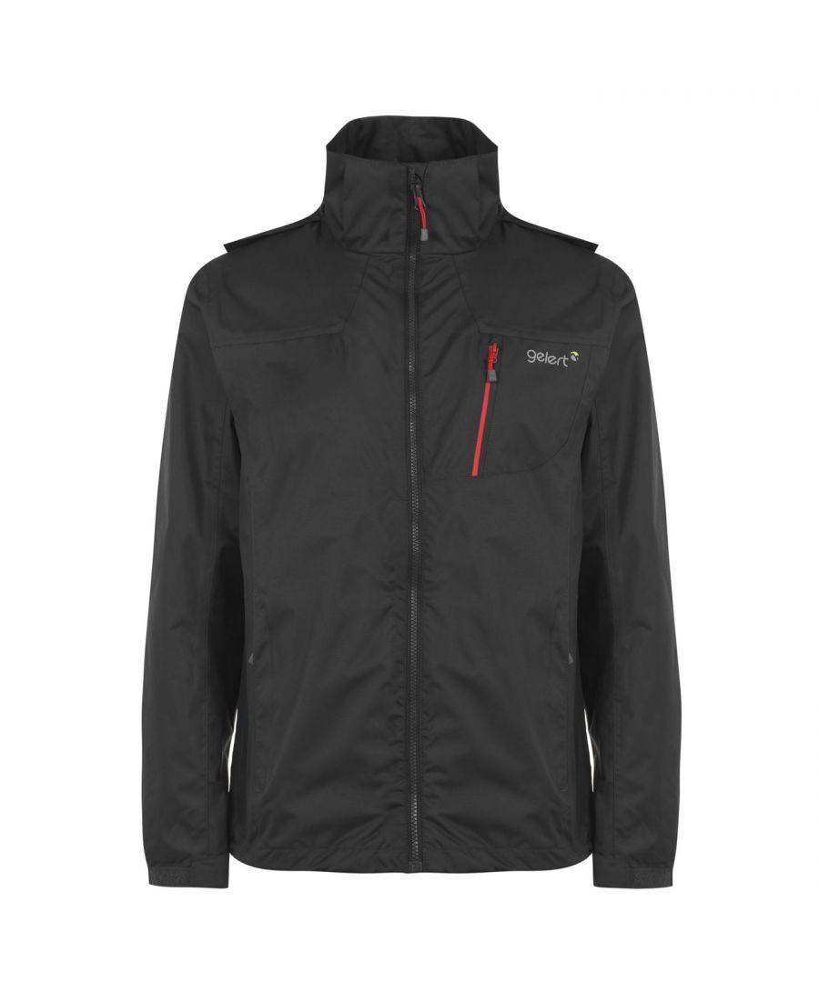 Image for Gelert Mens Horizon Waterproof Jacket Coat Top Chin Guard Breathable Hooded Zip