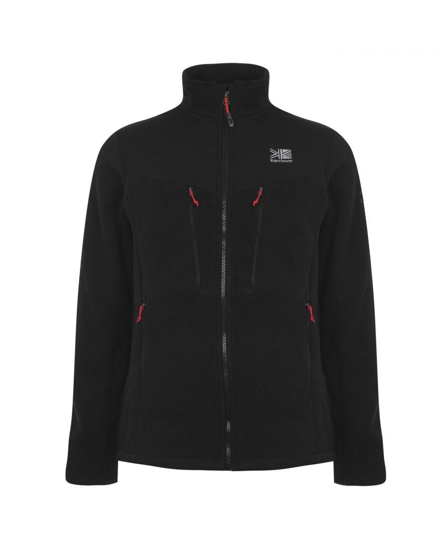 Image for Karrimor Mens Hoolie Fleece Top Full Zip Sports Mock Neck Warm Sweatshirt Sweat