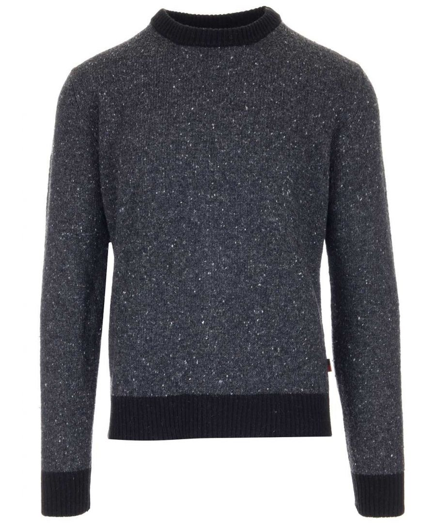 Image for WOOLRICH MEN'S WOMAG1887UF0427112 GREY ACRYLIC SWEATER