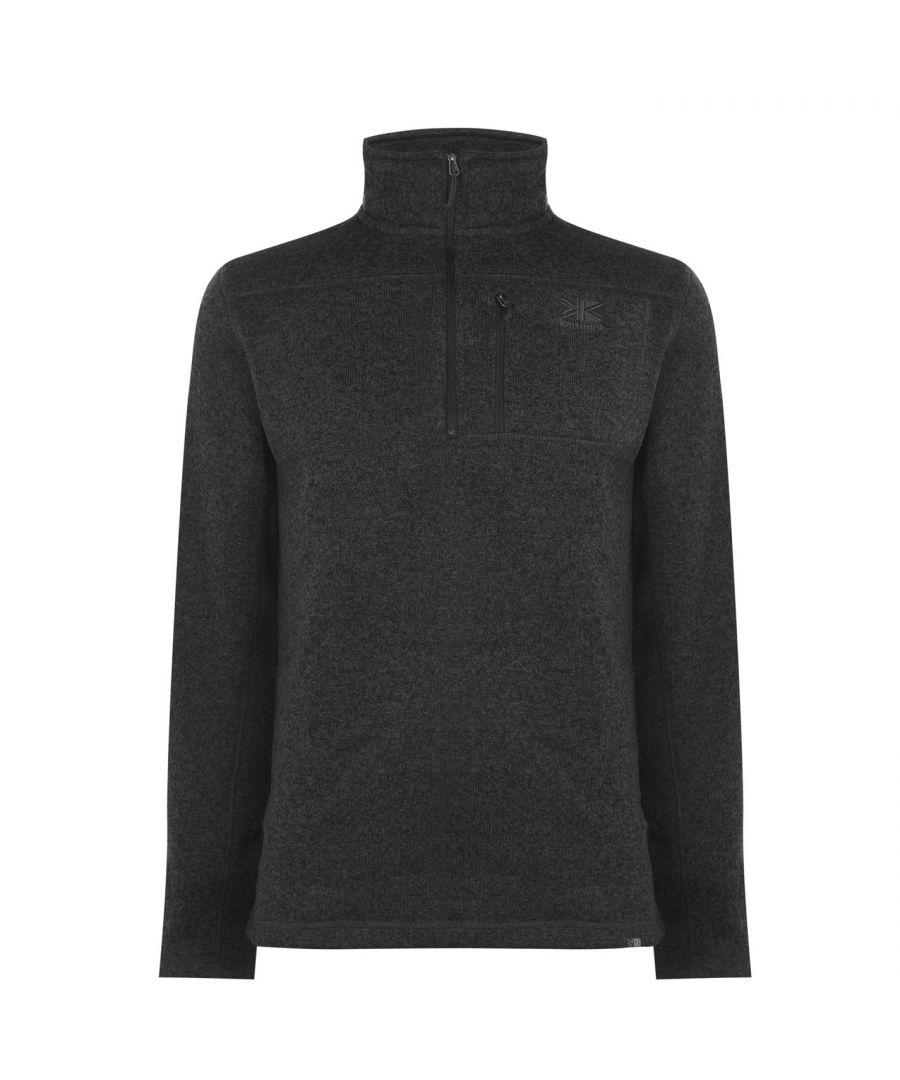 Image for Karrimor Mens Life Fleece Zip Fasten Round Collar Long Sleeve Pullover Warm