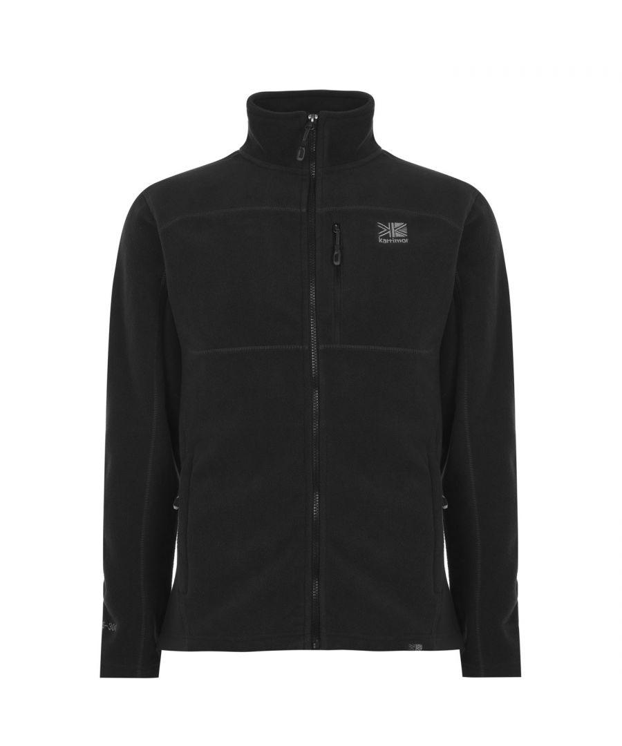 Image for Karrimor Mens Fleece Jacket Zip Through Top Long Sleeve High Collar Pockets