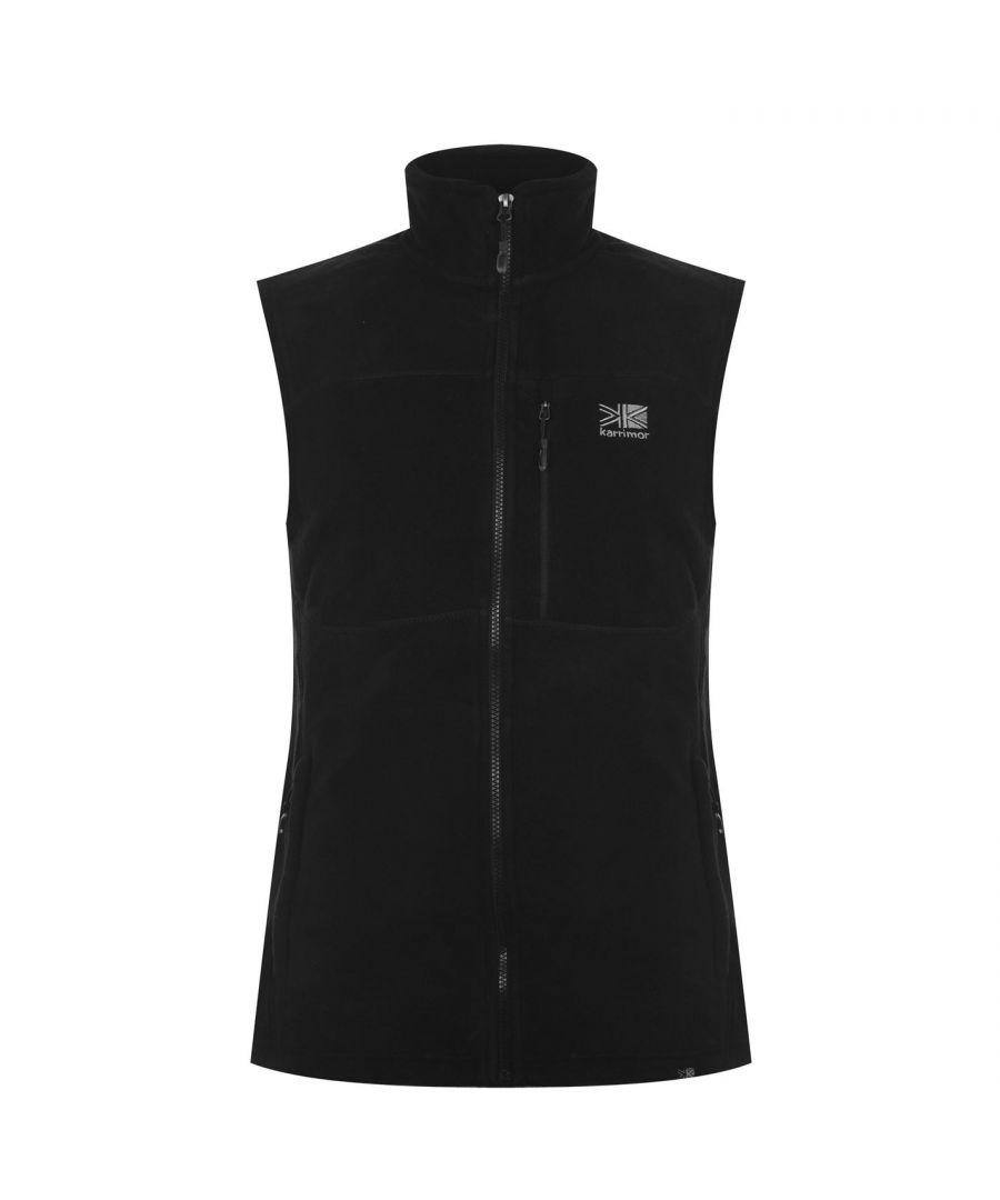 Image for Karrimor Mens Sleeveless Zip Fastening Waist Length Top Jacket Fleece Gilet