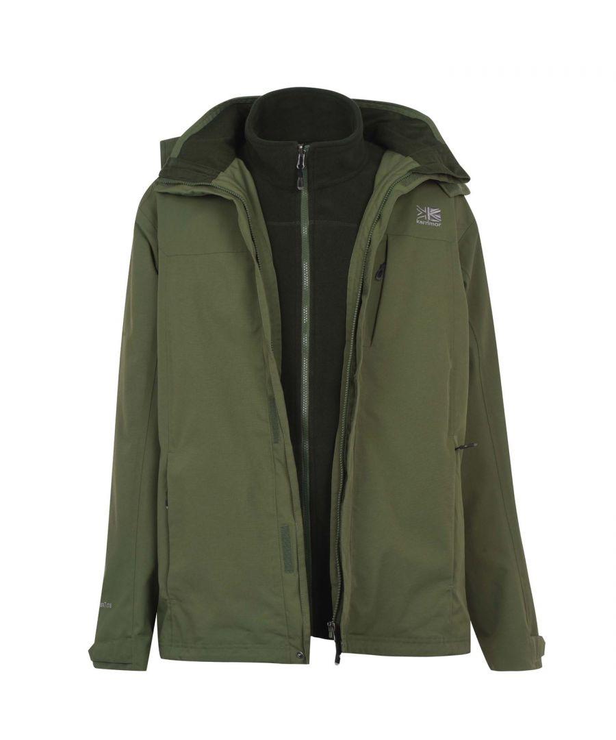 Image for Karrimor Mens 3in1 Jacket Mesh Lining Concealable Hood Water Resistant
