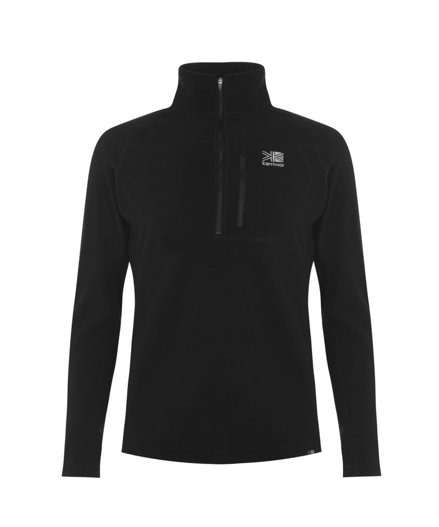 Image for Karrimor Mens Microfleece Pullover Warm Winter Sportswear Activewear Collared