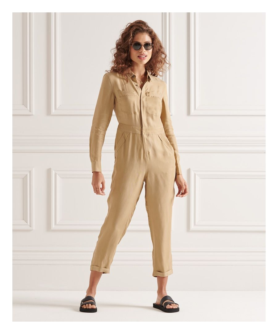Image for Superdry Cupro Long Sleeved Shirt Jumpsuit