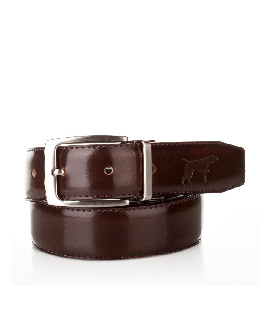 Image for Men's Leather Adjustable Belt in Brown