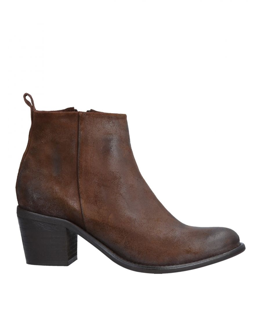 Image for Diesel Dark Brown Leather Ankle Boots