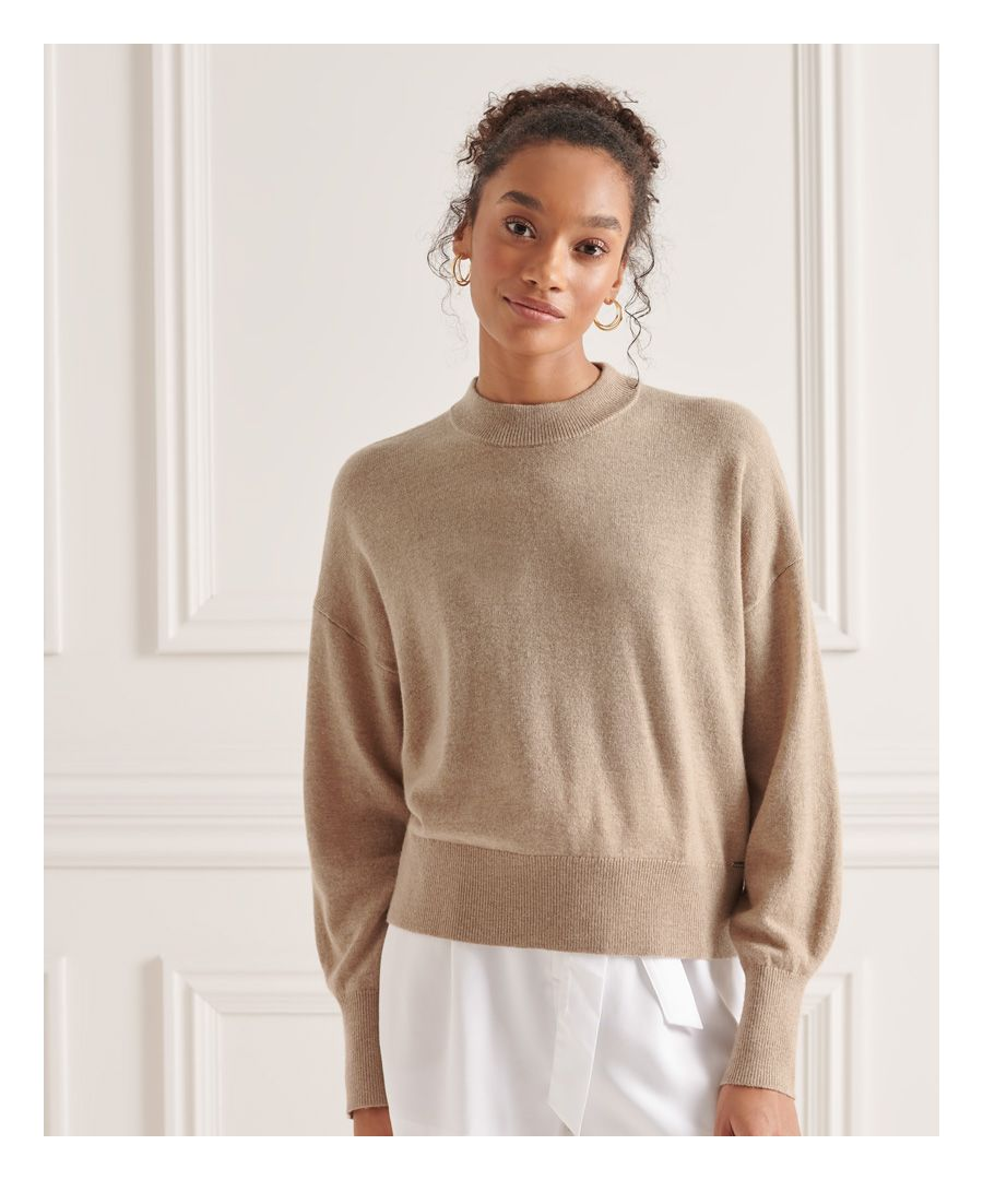 Image for Superdry Wool Cashmere Crew Jumper