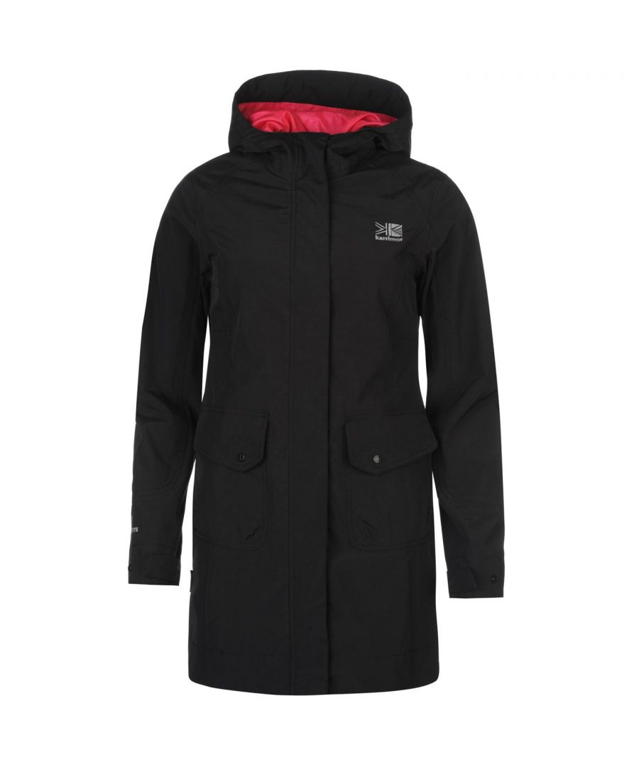 Image for Karrimor Womens Tahoe Jacket Long Adjustable cuffs Waterproof Hood Full Zip Top