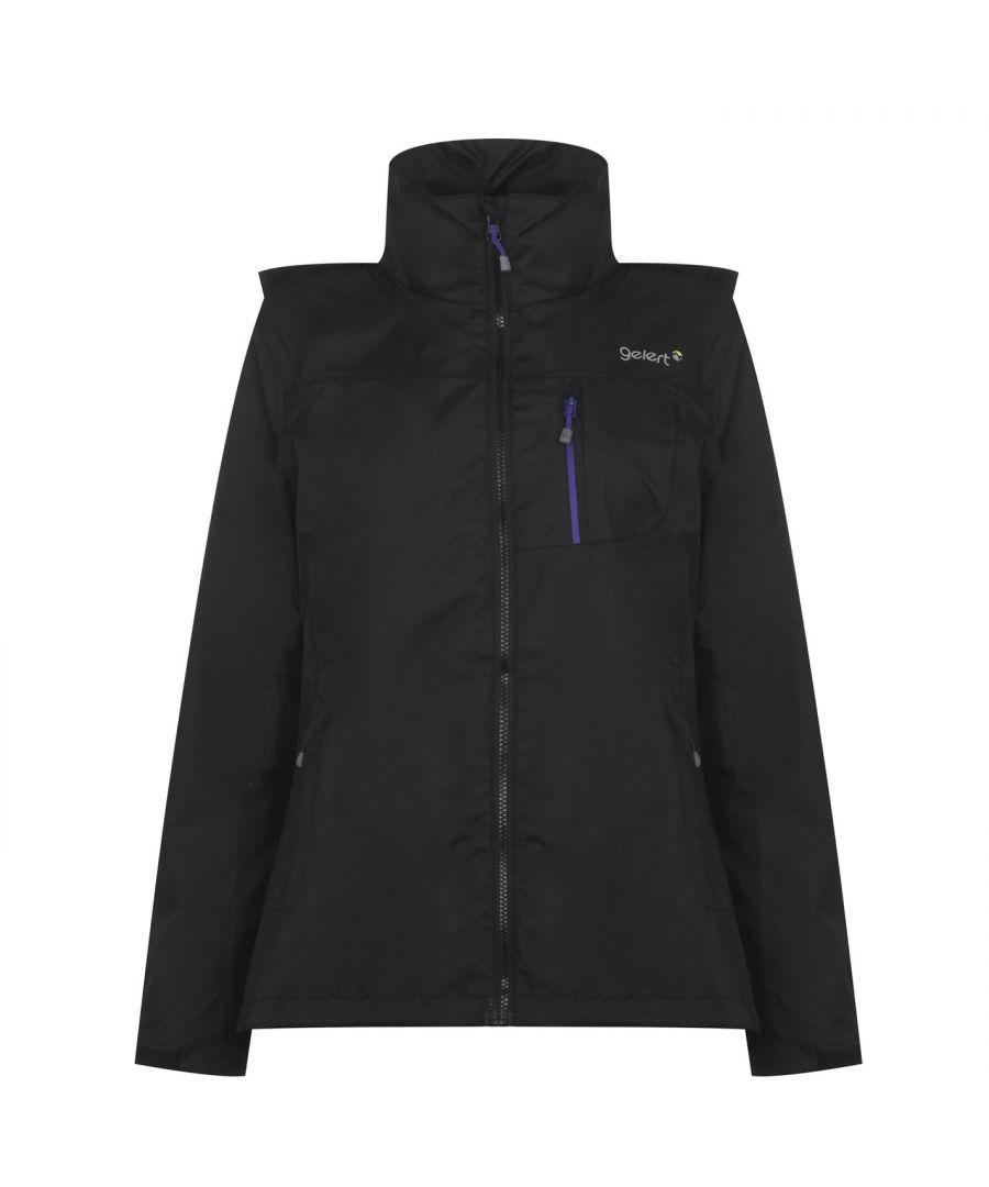 Image for Gelert Womens Horizon Waterproof Jacket Coat Top Chin Guard Breathable Hooded