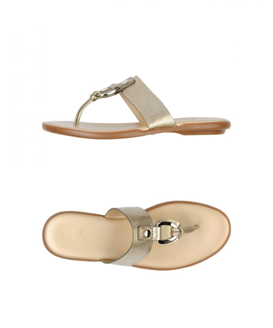 Image for Hogan Gold Leather Sandals