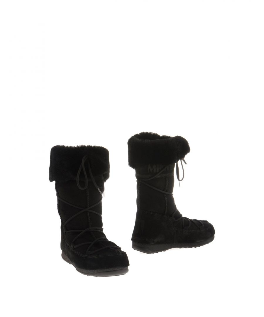 Image for Moon Boot Black Leather Lace Up Boots