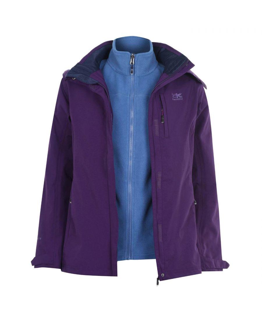 Image for Karrimor Womens 3in1 Jacket Coat Top Ladies Hooded Fleece Mesh Lining Warm Sport