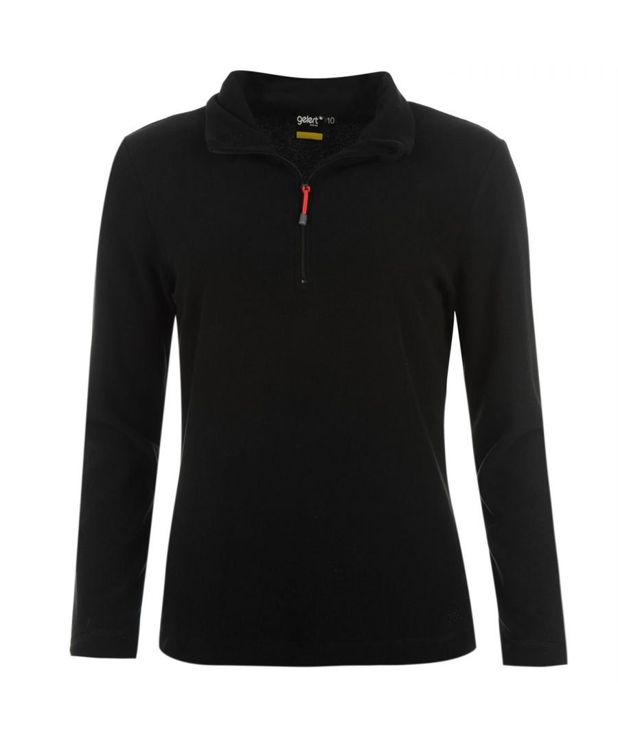 Image for Gelert Womens Ladies Atlantis Micro Fleece Top Long Sleeve Quarter Zip High Neck