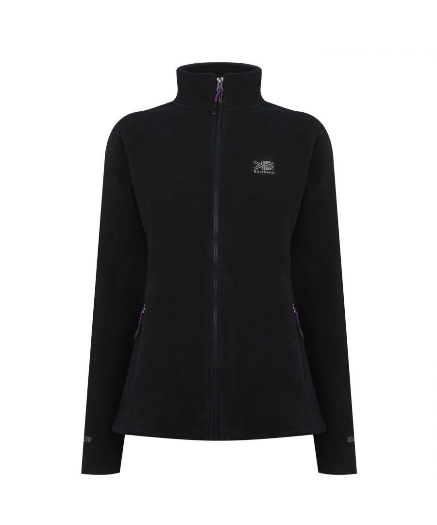 Image for Karrimor Womens Ladies Fleece Jacket Long Sleeve Zip High Collar Pockets Top