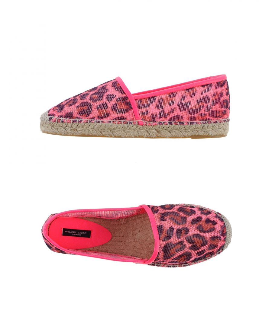 Image for Philippe Model Pink Leopard Print Espadrilles