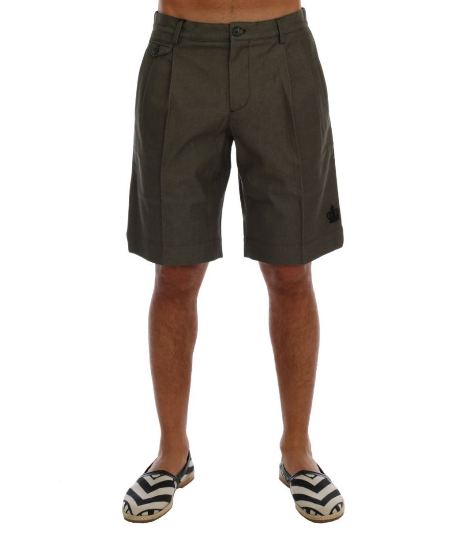 Image for Dolce & Gabbana Gray Cotton Crown Shorts