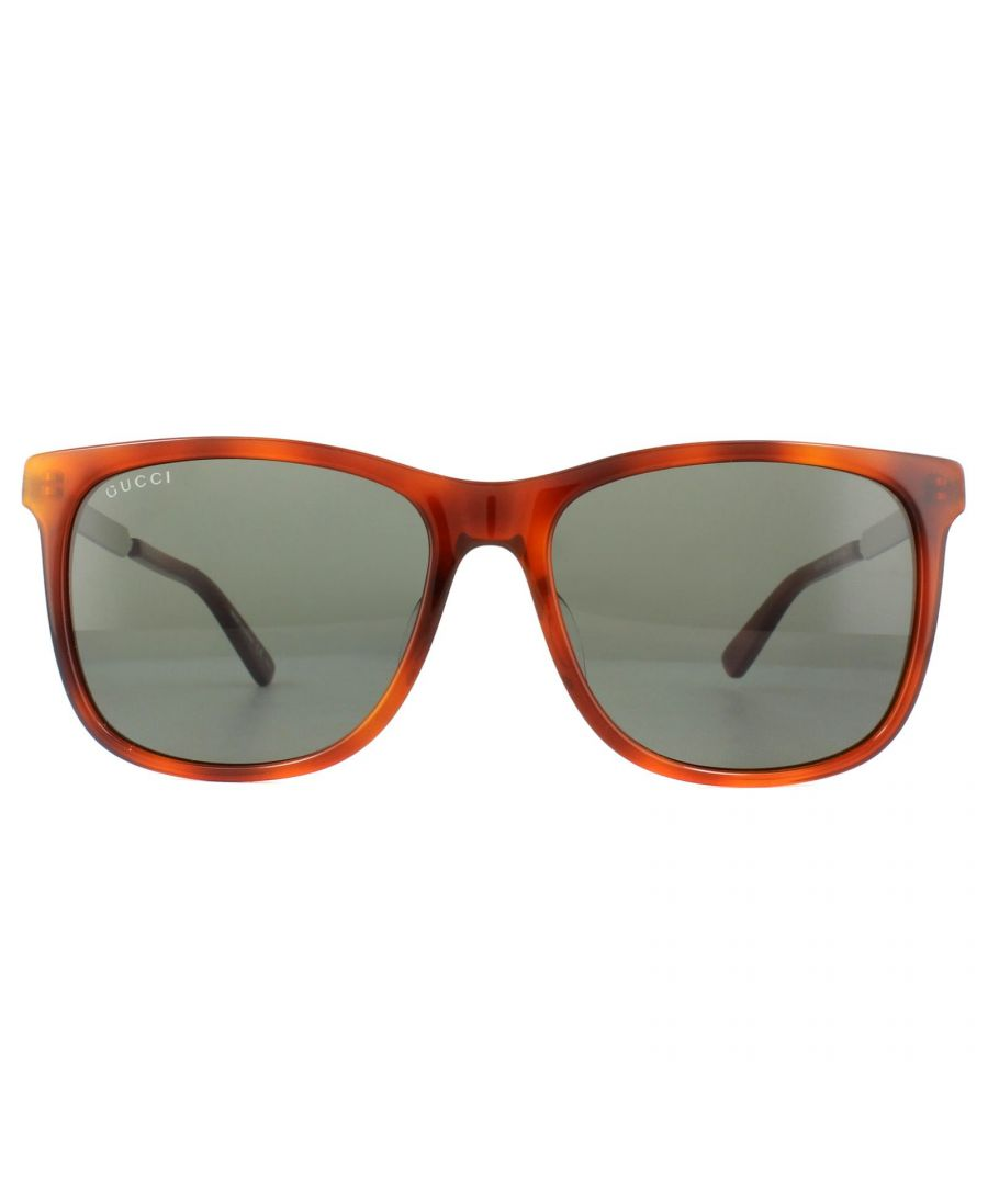 Image for Gucci Sunglasses GG0078SK 005 Tortoise Green