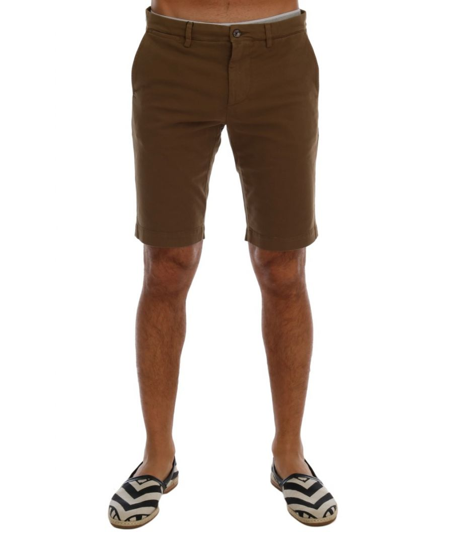 Image for Dolce & Gabbana Brown Cotton Stretch Above Knees Shorts