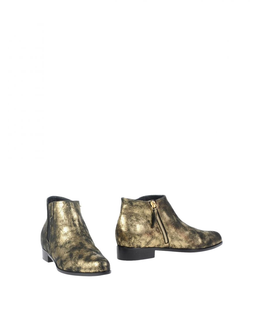 Image for Giuseppe Zanotti Gold Leather Ankle Boots